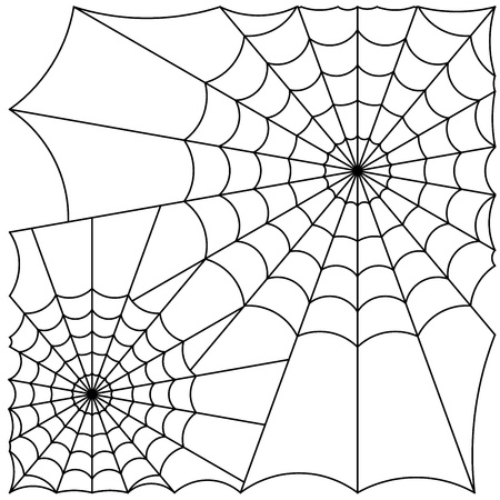 cobweb line Stock Illustratie