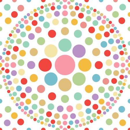 seamless pastel dot ball abstract background Stock Vector - 19279805