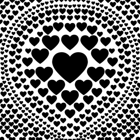 seamless black heart abstract background Vector