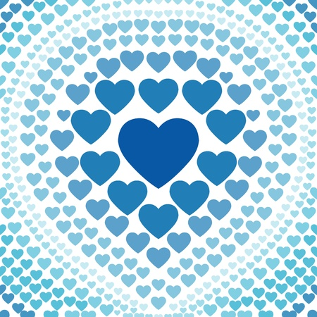 seamless blue heart abstract background Stock Vector - 19279817