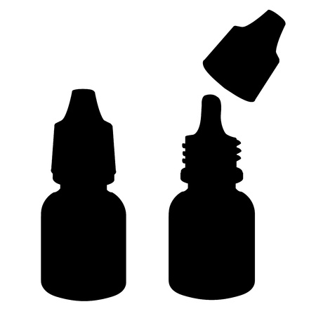 Eye drops  silhouette Stock Vector - 19279759