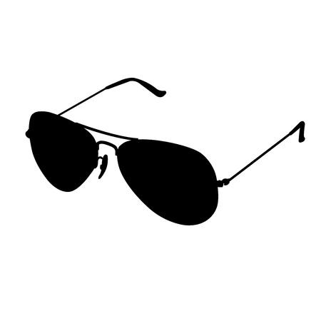 sun protection: gafas de sol gafas de silueta Vectores