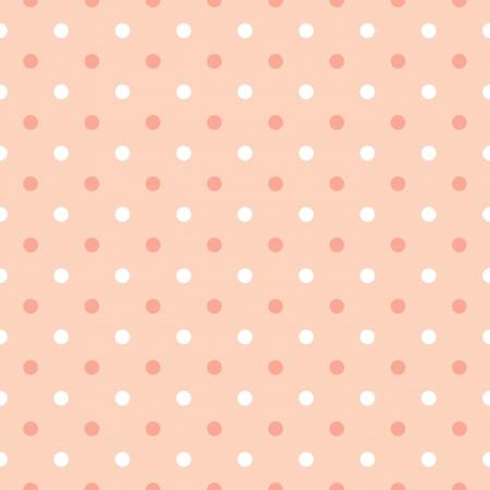 seamless pink polka dots background vector