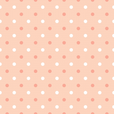 seamless pink polka dots background vector Vector