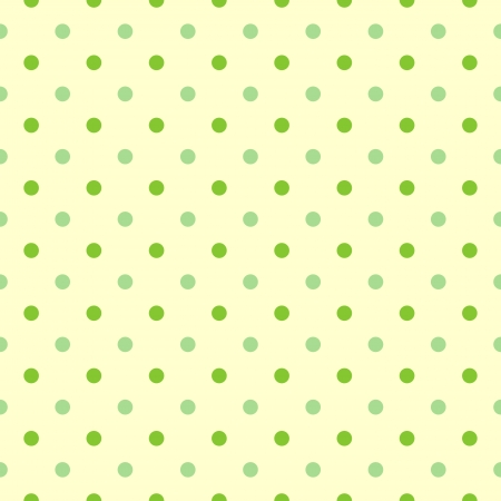 シームレスな緑色に水玉の背景のベクトル