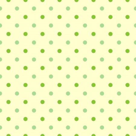 seamless green polka Dots background vector