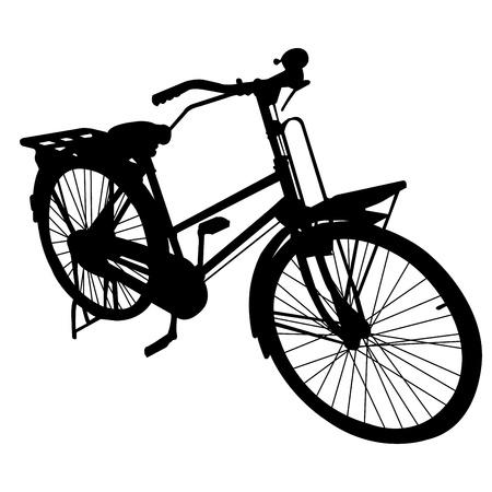 自転車バイクを位置づける  イラスト・ベクター素材