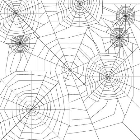spinneweb silhouet