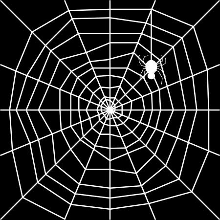 cobweb with spider silhouette Stock Vector - 19604264