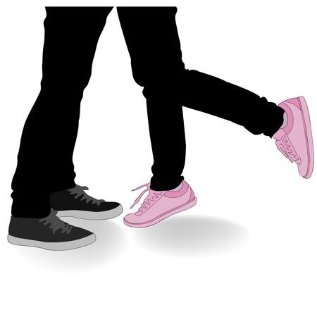 fondly:  Legs Kissing Lovers