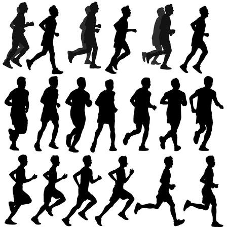 gente corriendo: ejecutar vector silueta