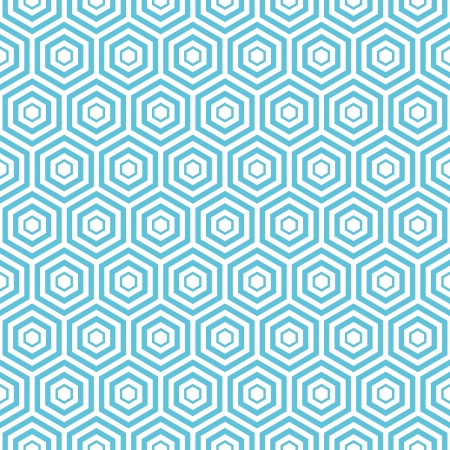eamless blue hexa pattern background Vector