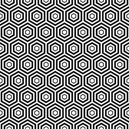 eamless hexa pattern background Vector