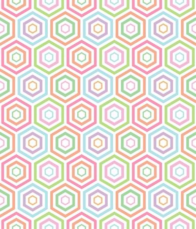 seamless pastel hexa pattern background Vector