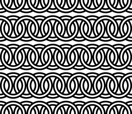 seamless circle Chain pattern background vector Stock Vector - 20239389