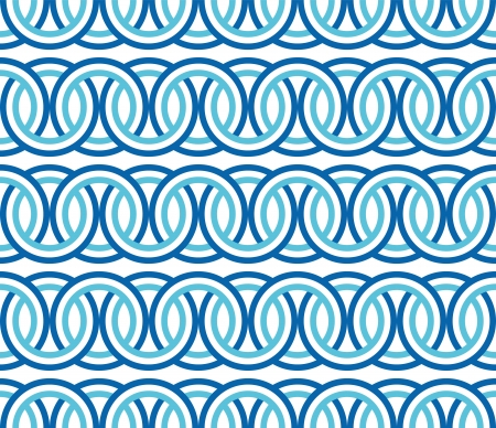 seamless blue circle Chain pattern background vector Stock Vector - 20239387