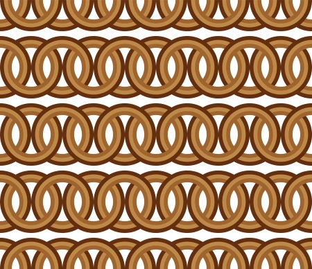 seamless brown circle Chain pattern background vector Vector