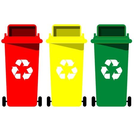 papelera de reciclaje: Papelera de reciclaje vector Vectores
