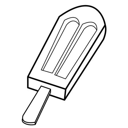 ice cream stick: ice cream vector palo