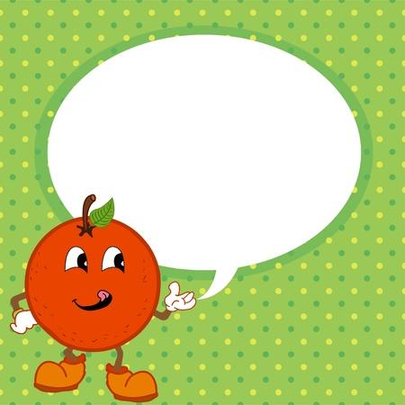 orange with speech bubble Stock Vector - 20483111