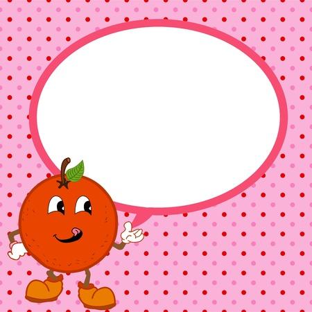 orange with speech bubble Stock Vector - 20483107