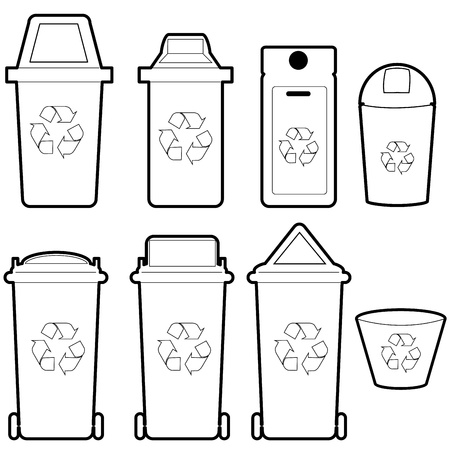 garbage tank: recycle bin   vector Illustration
