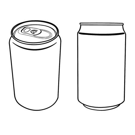 lata de refresco: bebida puede esbozar vector Vectores