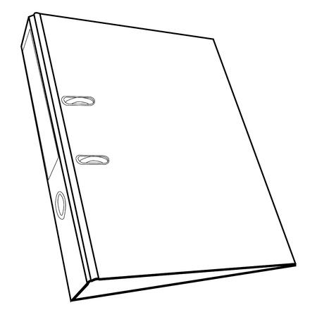 document file folder outline vector Stock Vector - 20483093