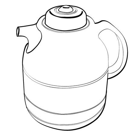 quart: vacuum bottle outline vector