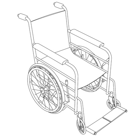 transference: wheelchair outline vector Illustration