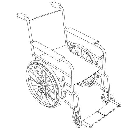 ems: wheelchair outline vector Illustration