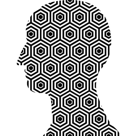 Hexagon pattern  head shape background Stock Vector - 20483092