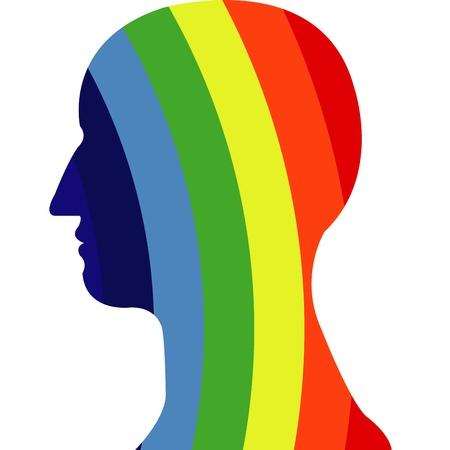 rainbow pattern on head vector Stock Vector - 20483085