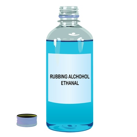 disinfect: Rubbing Alcohol Ethanal Vector