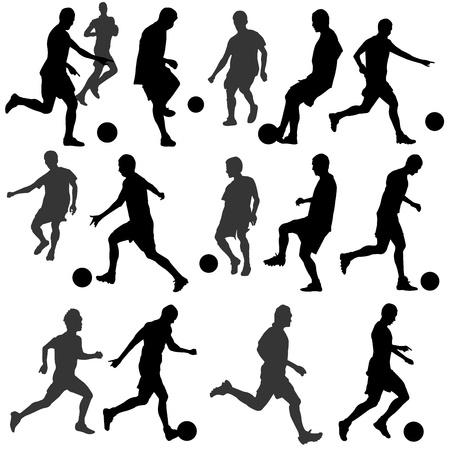 voetbal silhouet: voetbal silhouet
