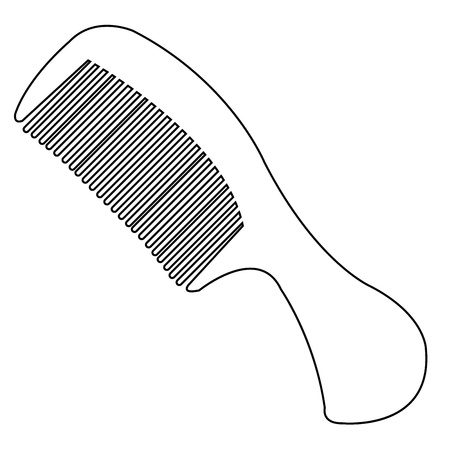 comb outline vector Stock Vector - 21167657