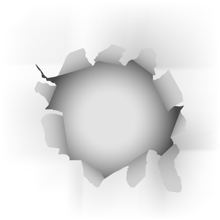white torn paper  vector