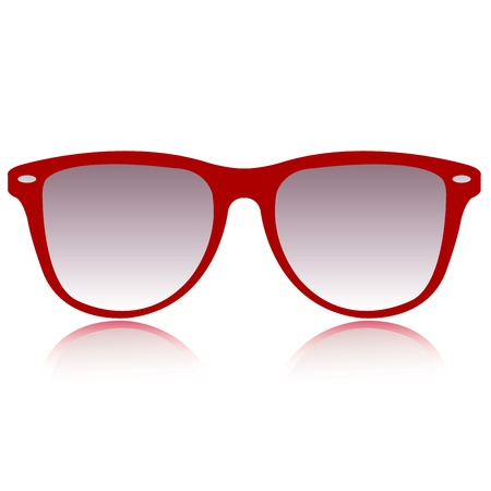 red sunglasses vector Stock Vector - 21167674