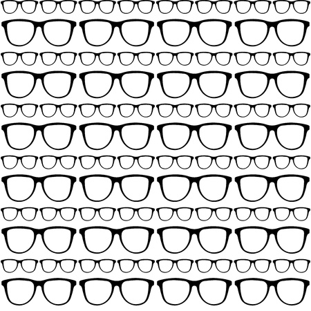 seamless pattern of sunglasses frames Stock Vector - 21399811