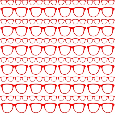 seamless red pattern of sunglasses Stock Vector - 21399813