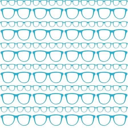 seamless blue pattern of sunglasses Stock Vector - 21399814