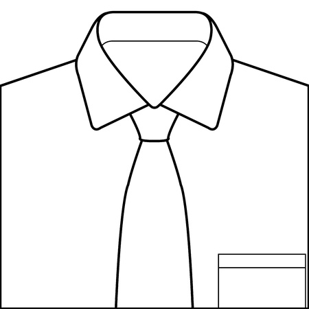 Shirt And Tie Stock Vector - 21399822