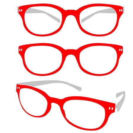 eyewear: Red Spectacle Illustration