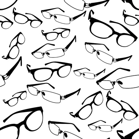 eyewear fashion: Seamless Spectacle Pattern  Illustration