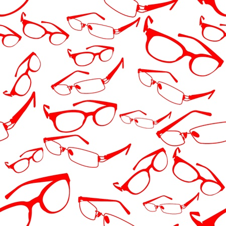 Seamless Red Spectacle Pattern
