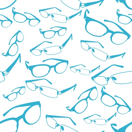 Seamless Blue Spectacle Pattern  Illustration