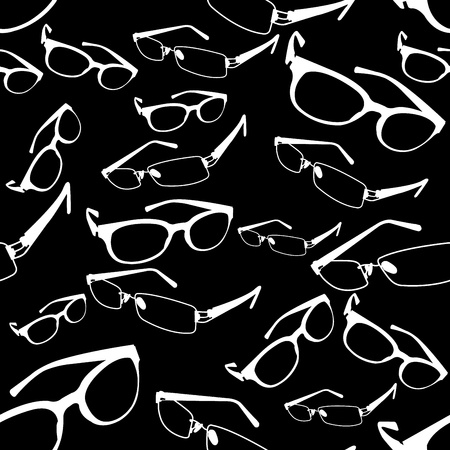 Seamless Spectacle Pattern Stock Vector - 21399910