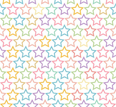 seamless pastel star pattern background Stock Vector - 21399926
