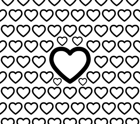 endearment: Seamless Big Heart Pattern