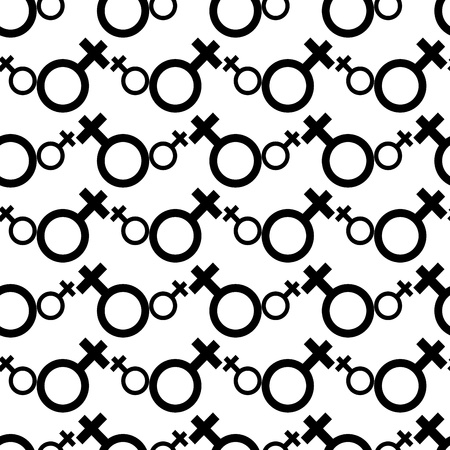Seamless Female Symbol Pattern Background Stock Vector - 21490548